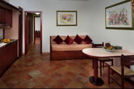 Voorbeeld woonkamer van de appartementen.