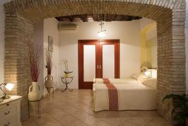 Familiekamer van de B&B in Sardinië.