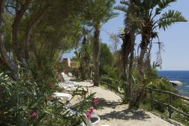 Het uitzicht van Arbatax Residence, Sardinië.