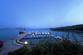 Privé haven van het vakantiepark.
