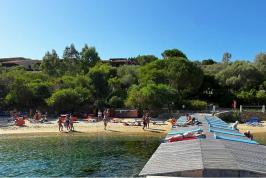 Solarium in zee. Heerlijke vakantie in Sardinië!