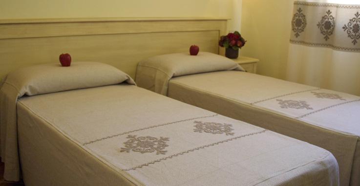Slaapkamer Met 2 Eenpersoonsbedden.De Appartementen Zijn Smaakvol Ingericht Met Modern